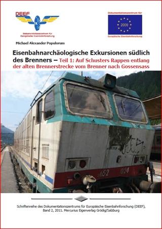 DEEF DVD Alte Brennerbahn Brenner Gossensass